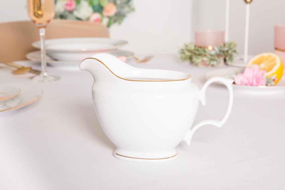 Sosjerka porcelanowa MariaPaula Złota Linia