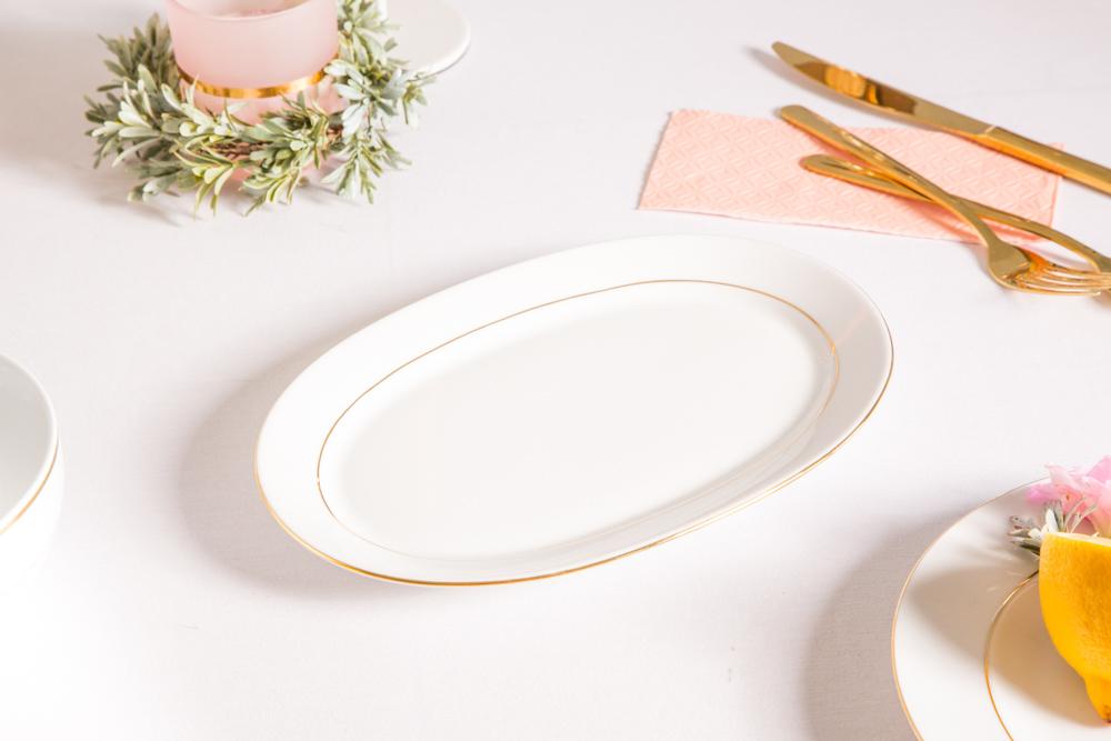 Rawier porcelana MariaPaula Złota Linia 23cm