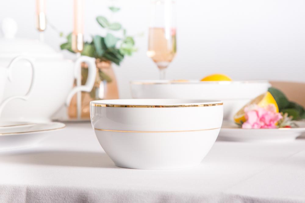 Miska / Salaterka porcelana MariaPaula Złota Linia 14cm
