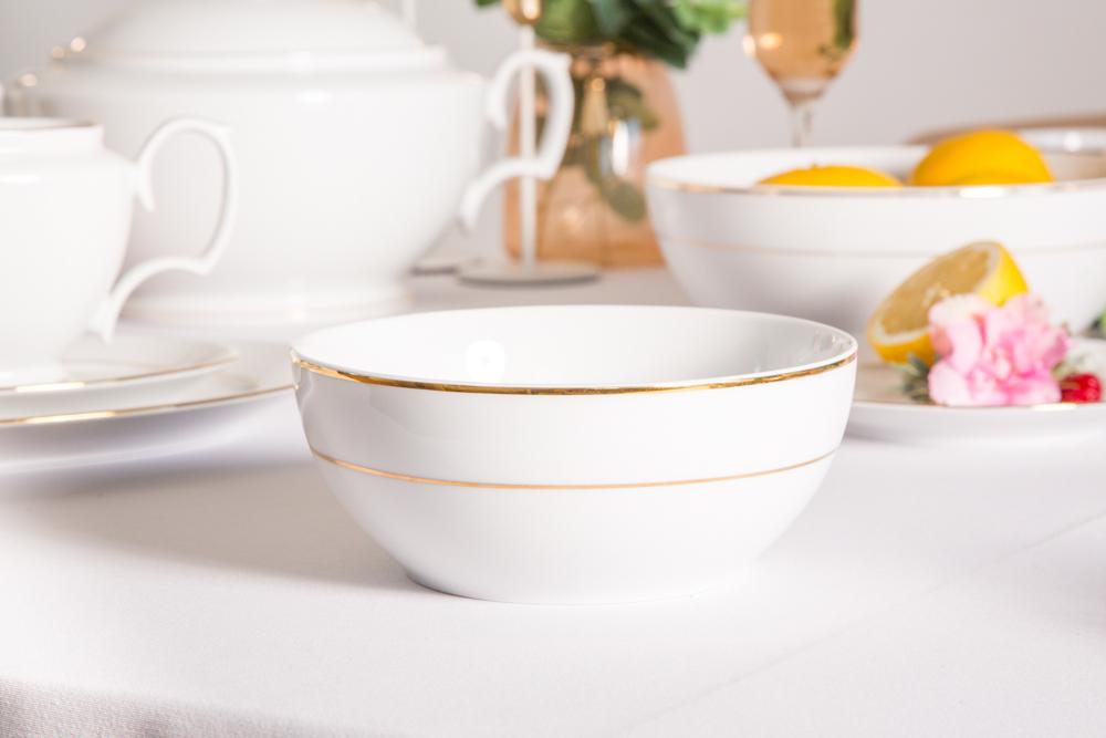 Miska / Salaterka porcelana MariaPaula Złota Linia 17cm