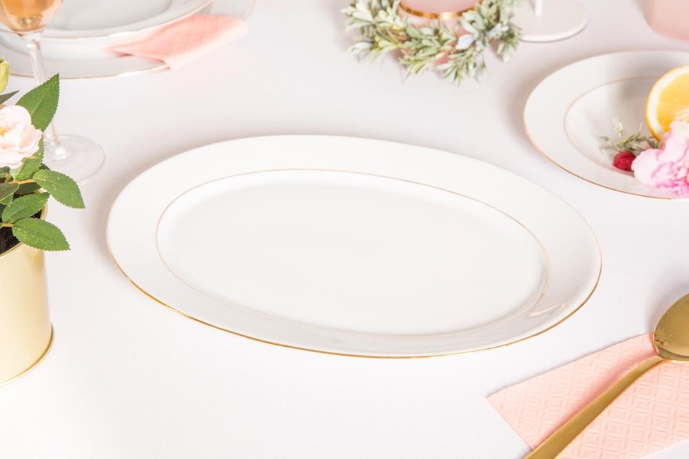 Półmisek owalny porcelana MariaPaula Złota Linia 28cm