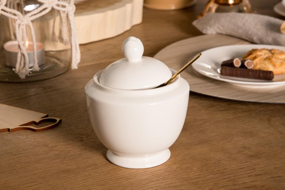 Cukiernica porcelana MariaPaula Ecru 330 ml