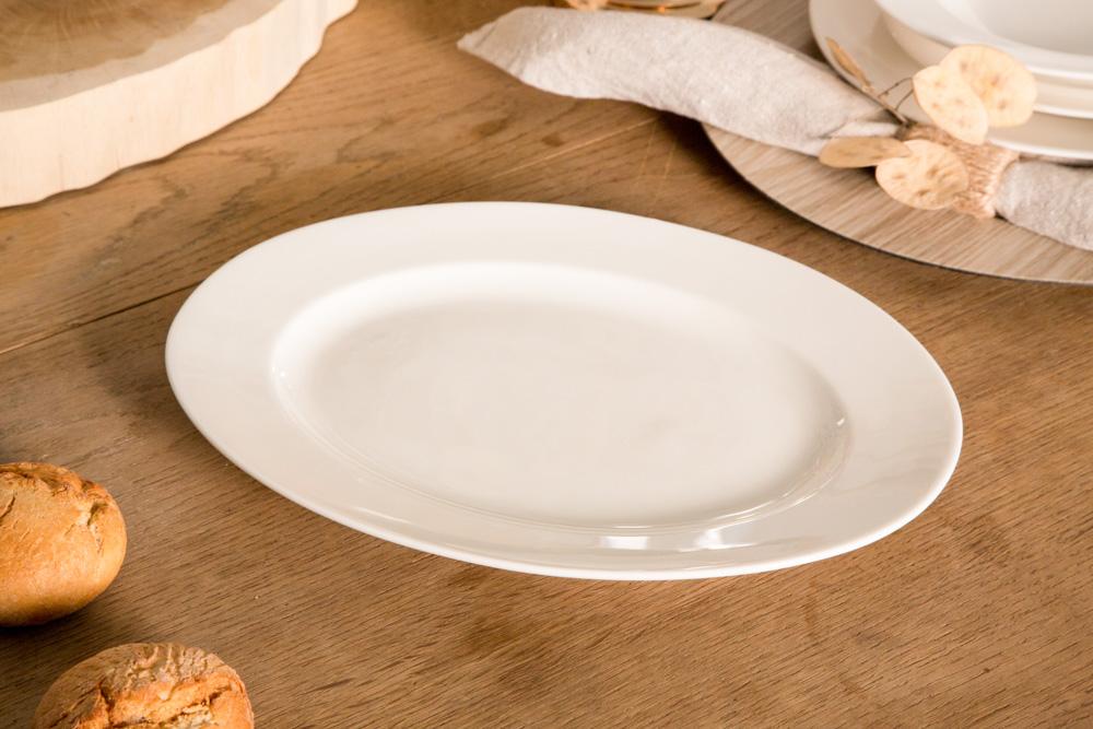 Półmisek owalny porcelana MariaPaula Ecru 31 cm