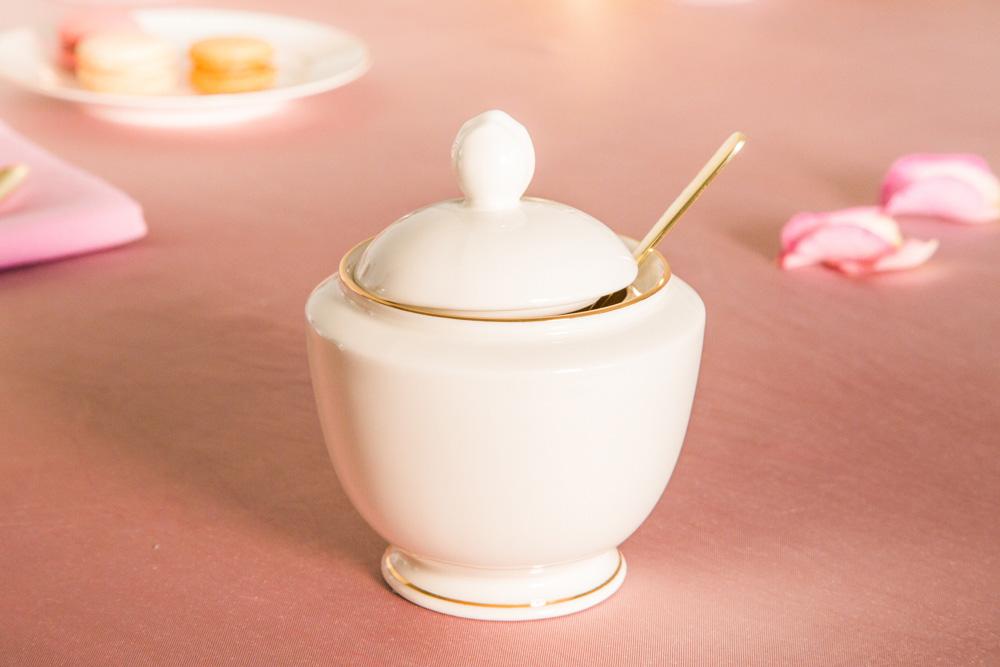 Cukiernica porcelana MariaPaula Ecru Złota Linia 330 ml