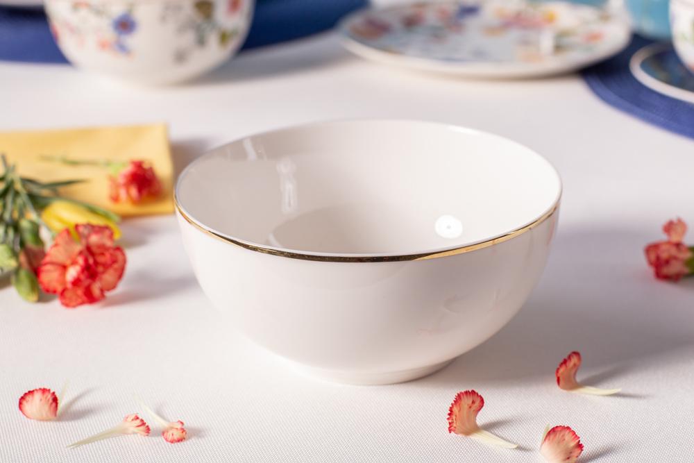 Miska / Salaterka porcelana kremowa Altom Design Bella Złota Linia 14 cm