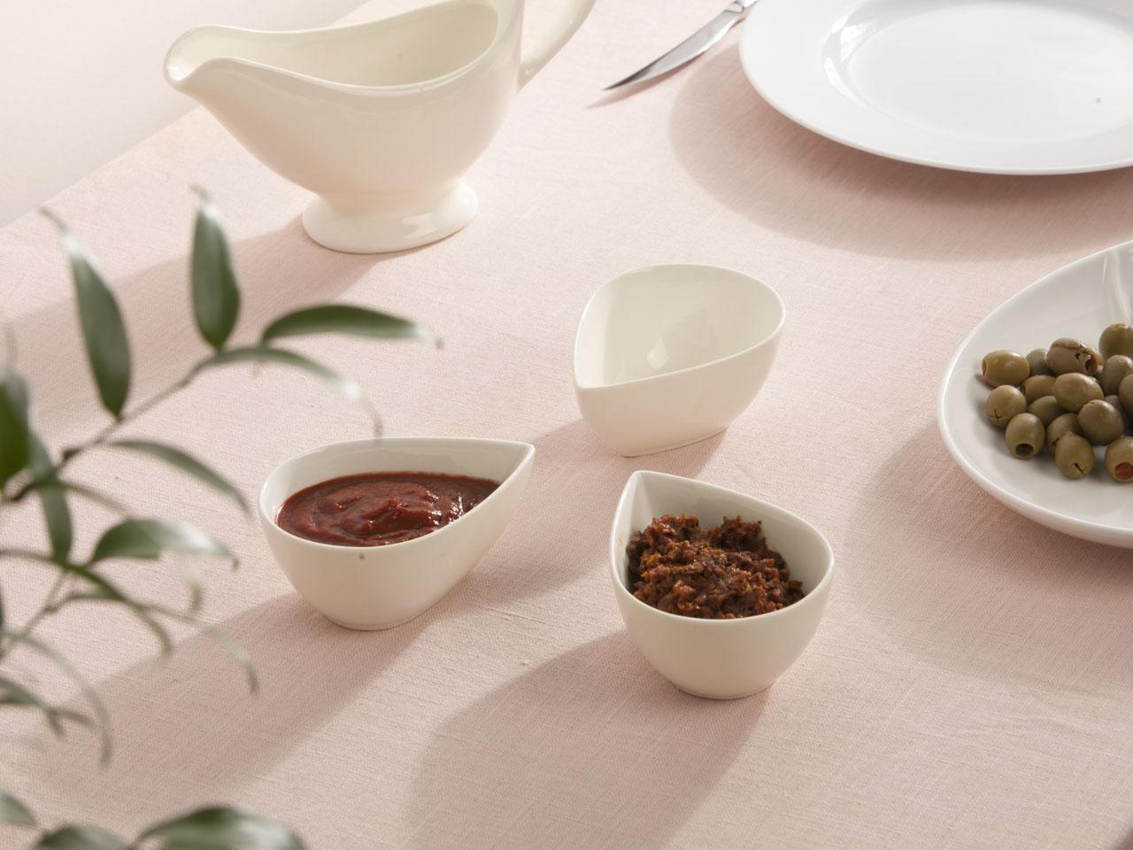 Zestaw do dipów porcelana Altom Design Regular Łezka