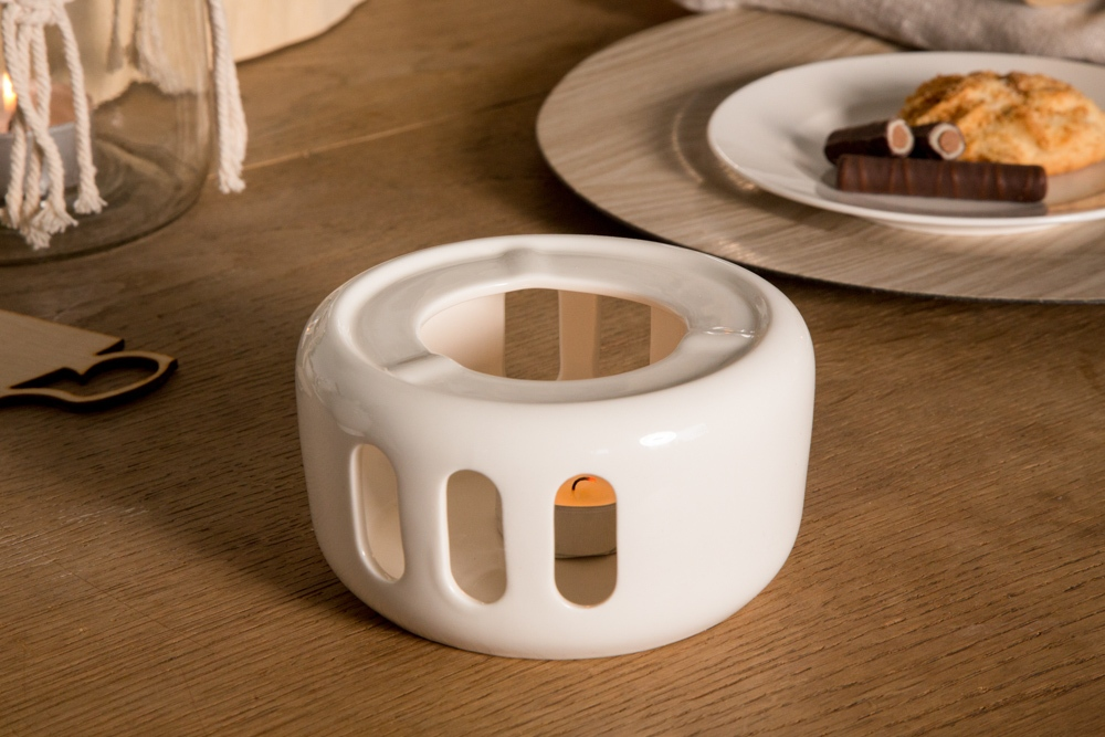 Podgrzewacz pod czajnik lub wazę porcelanowy MariaPaula Ecru