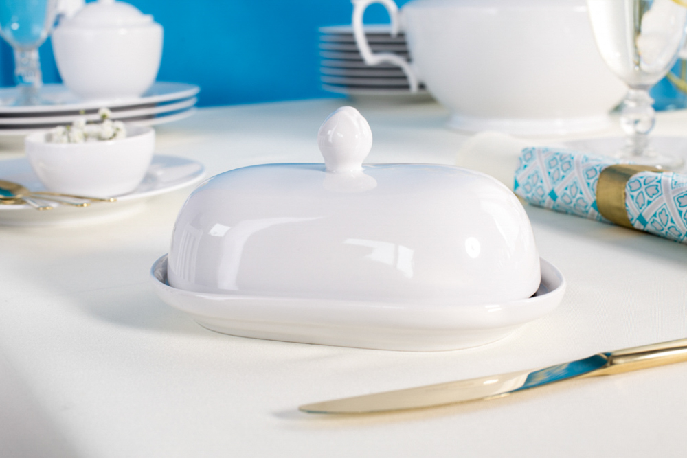 Maselnica porcelanowa MariaPaula Biała
