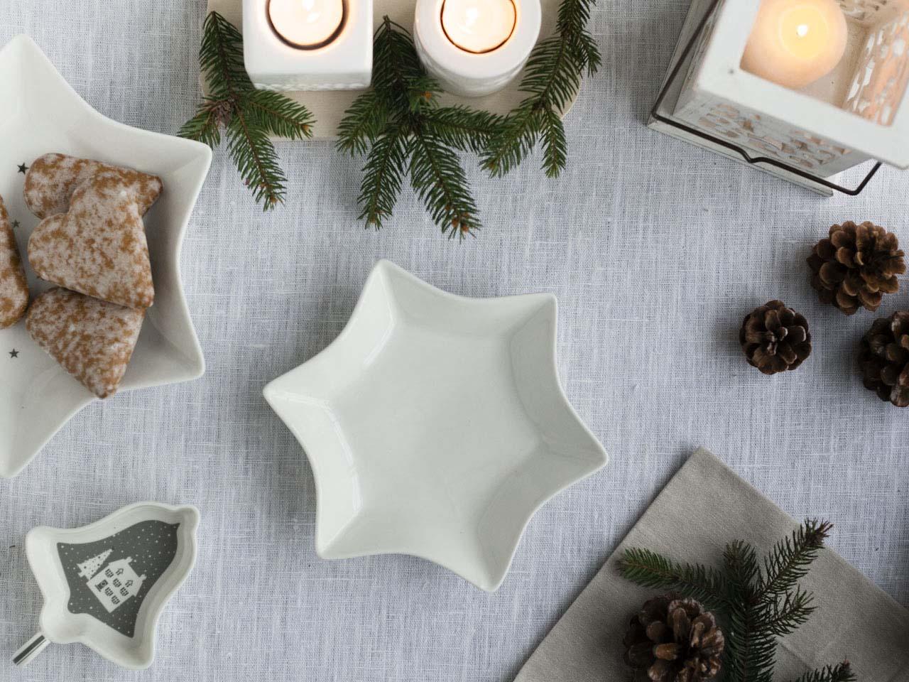 Salaterka / półmisek porcelanowy świąteczny Altom Design Gwiazdka średnia