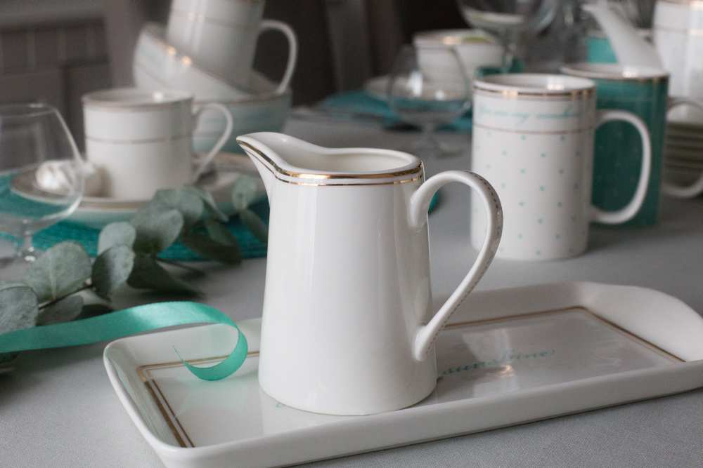 Mlecznik / Dzbanek do mleka porcelanowy Altom Design Madame Gold 280 ml