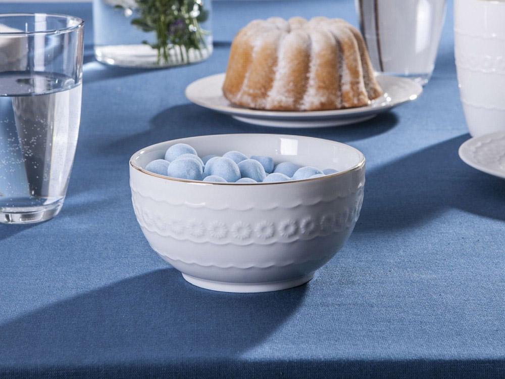 Miska / Salaterka porcelanowa Altom Design Laura Złota Linia 13 cm