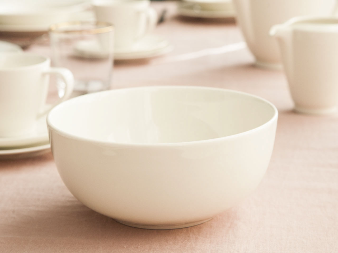 Miska / Salaterka okrągła porcelanowa MariaPaula Ecru Nova 19 cm