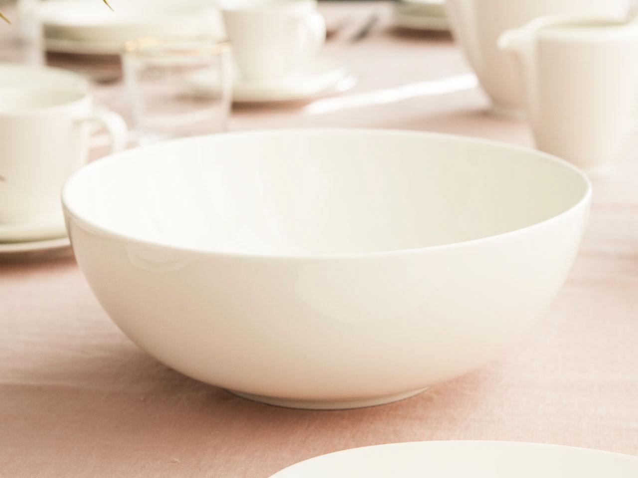 Miska / Salaterka okrągła porcelanowa MariaPaula Ecru Nova 25 cm