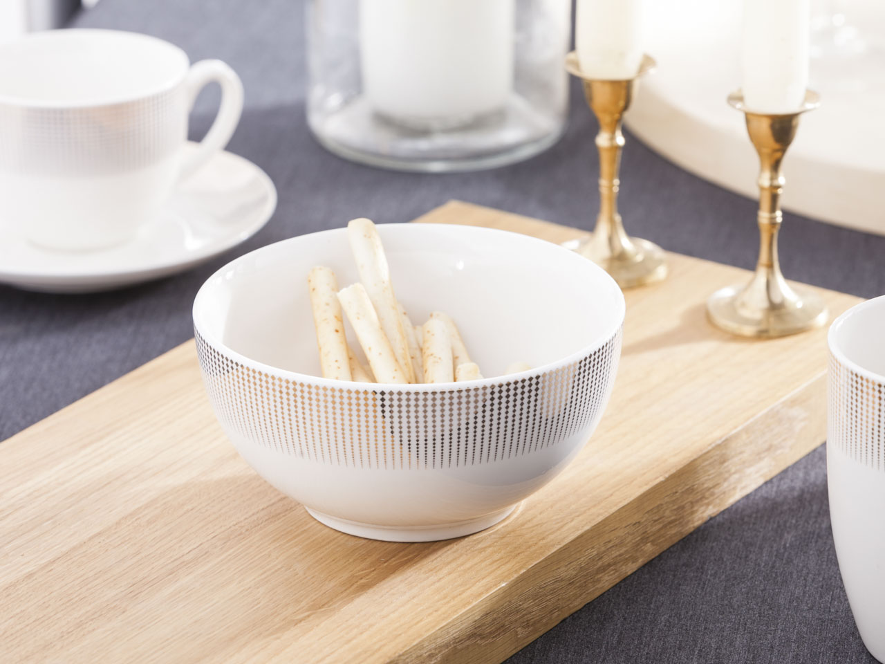 Miska / salaterka porcelanowa Altom Design Bella Złote Romby 14 cm