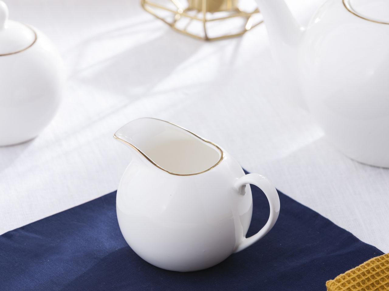 Mlecznik / dzbanek do mleka porcelanowy Altom Design Bella Złota Linia 200 ml