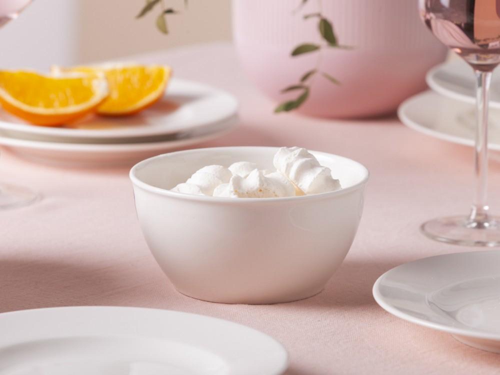 Miska / salaterka porcelanowa MariaPaula Ecru z rantem 14 cm
