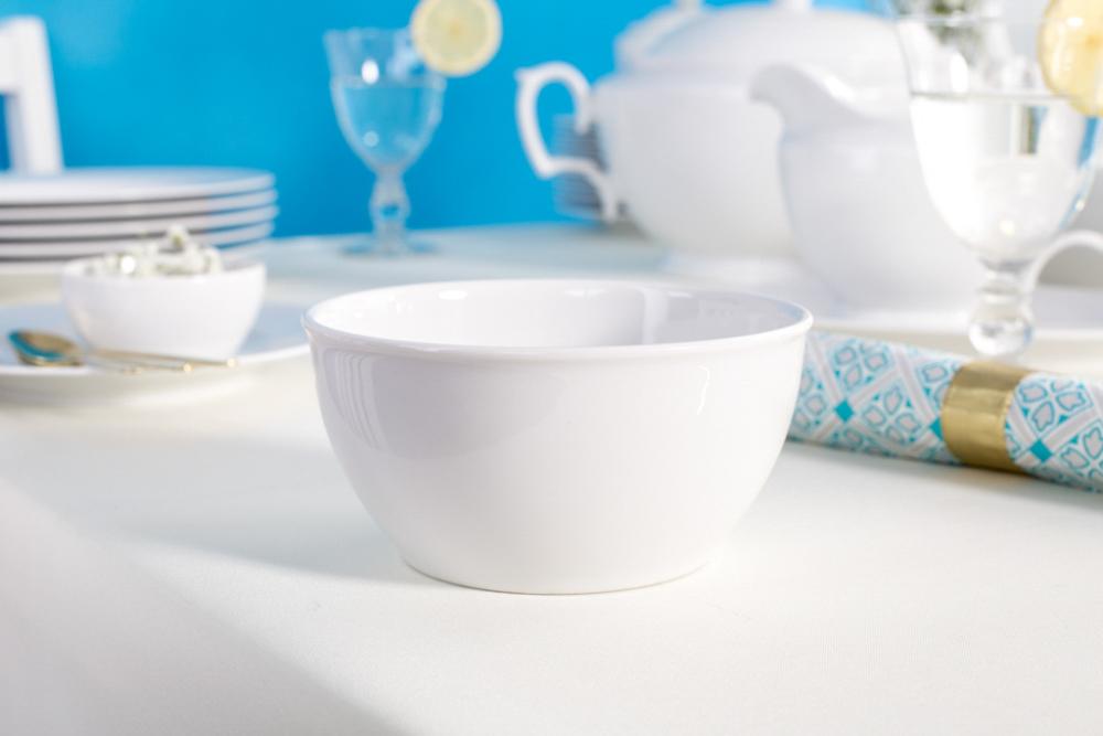 Miska / salaterka porcelanowa MariaPaula Biała z rantem 14 cm