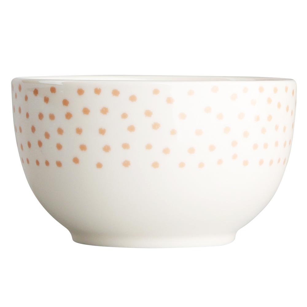 Miska / salaterka porcelanowa Altom Design Łososiowe Kropki 13 cm