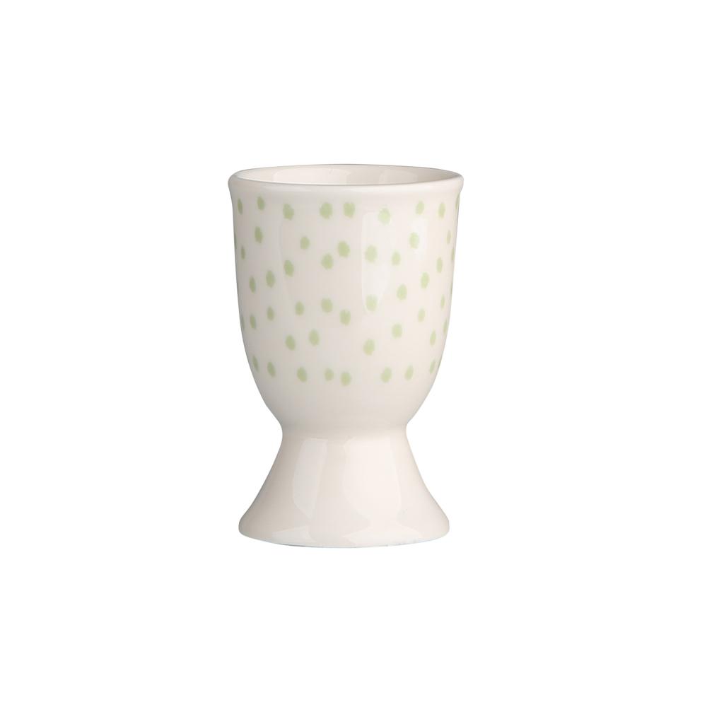 Kieliszek do jajka porcelanowy Altom Design Seledynowe Kropki