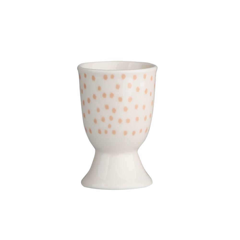 Kieliszek do jajka porcelanowy Altom Design Łososiowe Kropki
