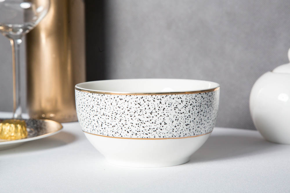 Miska / salaterka porcelanowa Altom Design Granit 12,5 cm biała