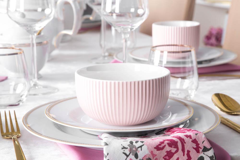 Salaterka / miseczka porcelanowa Altom Design Ballerina 12,5 cm różowa