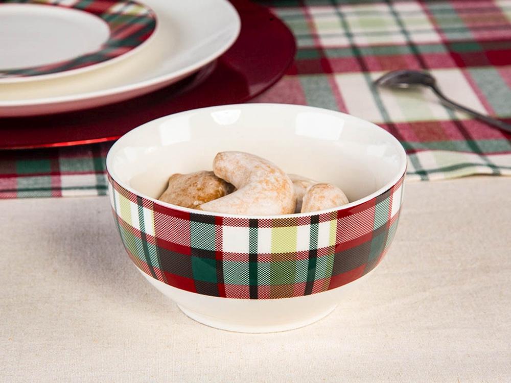 Salaterka / miseczka porcelanowa święta Boże Narodzenie Altom Design Victoria Red 13 cm