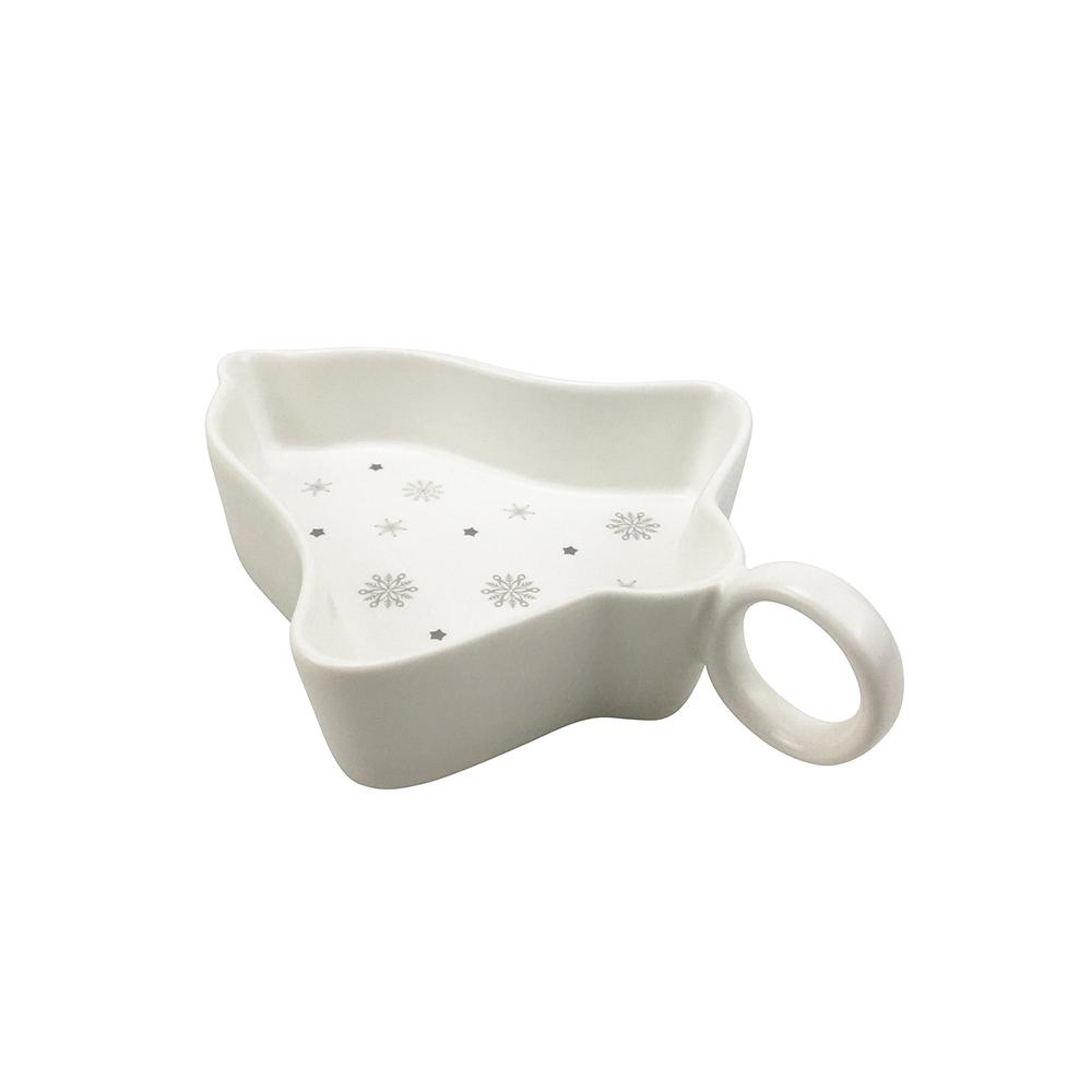 Talerz / półmisek / salaterka / naczynie do dipów porcelana święta Boże Narodzenie Altom Design Ballerina Winter Dzwonek 15 cm