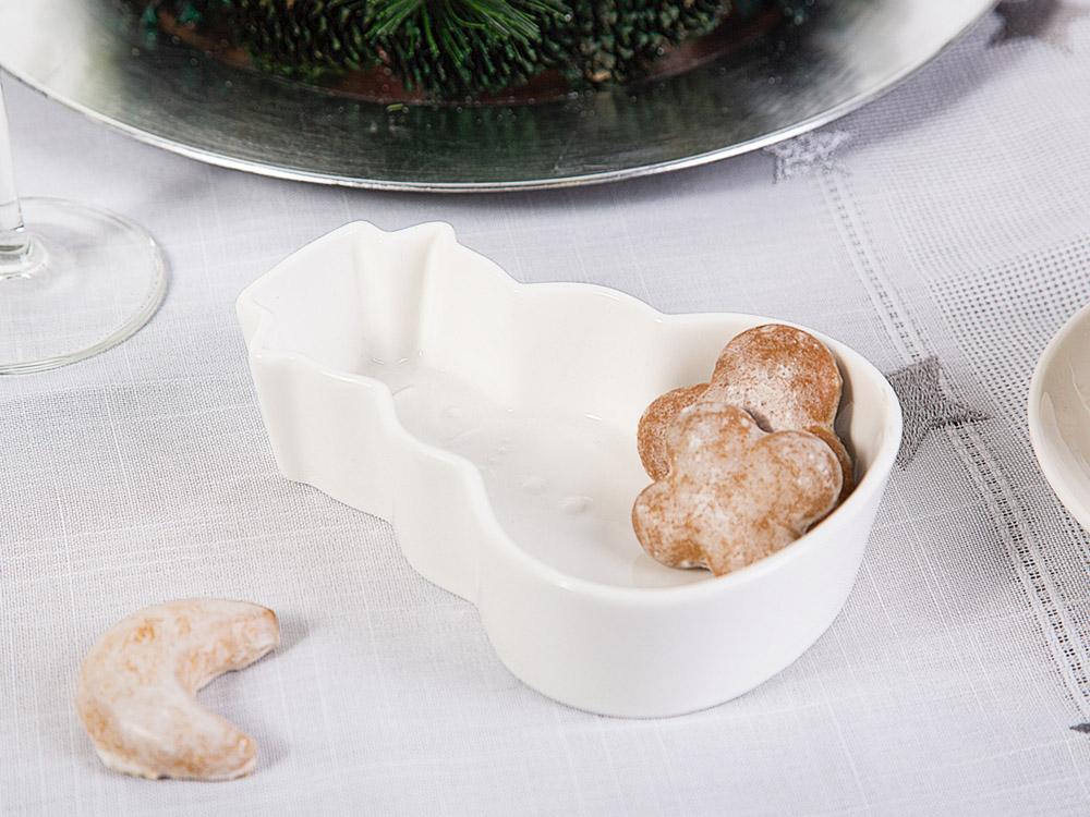 Regular snowman shape dish 15,7X10,5X4 CM