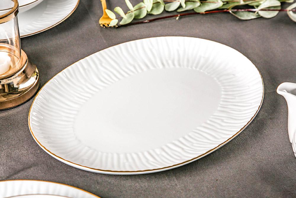 Półmisek porcelanowy MariaPaula Natura Złota Linia 33 cm