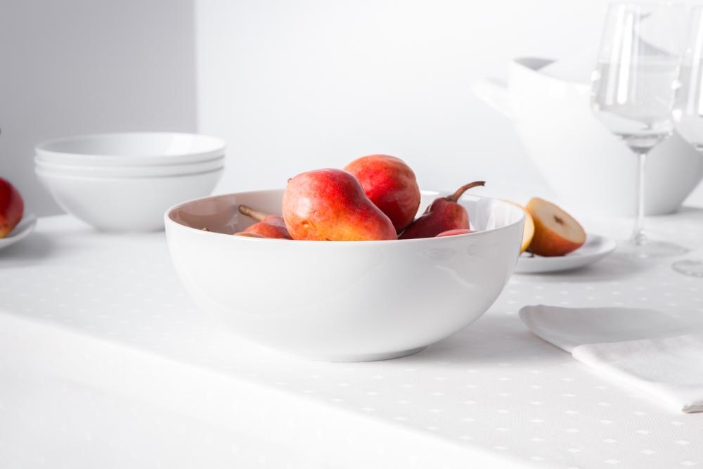 Salaterka / miska porcelana MariaPaula Moderna Biała 25 cm okrągła