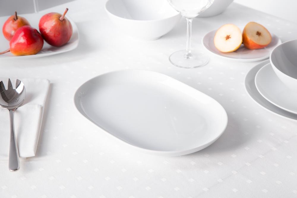 Półmisek / rawier porcelana MariaPaula Moderna Biała 28 cm owalny