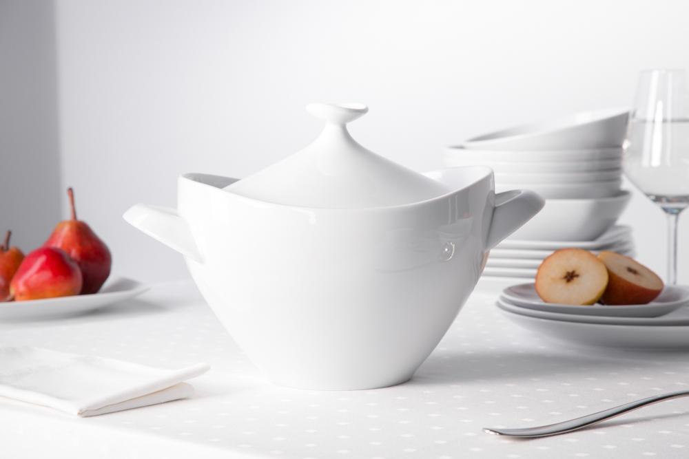Waza do zupy porcelana MariaPaula Moderna Biała 2,5 l