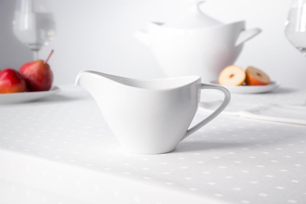 Sosjerka porcelana MariaPaula Moderna Biała 450 ml