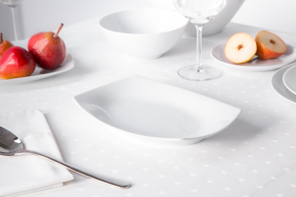 Półmisek / rawier porcelana MariaPaula Moderna Biała 24 cm prostokątny