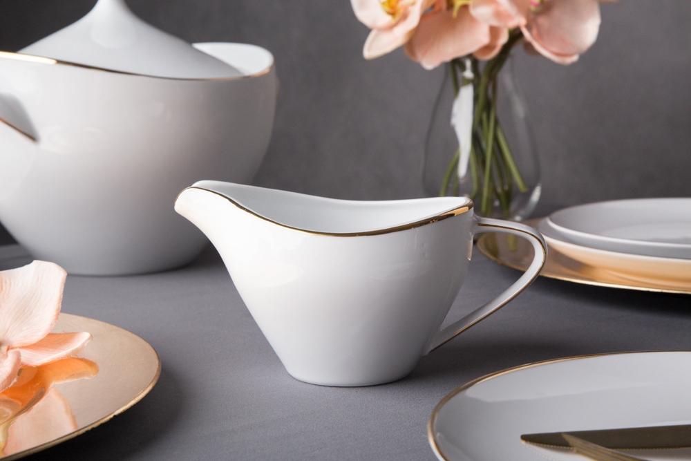 Sosjerka porcelana MariaPaula Moderna Gold 450 ml ze złotym zdobieniem