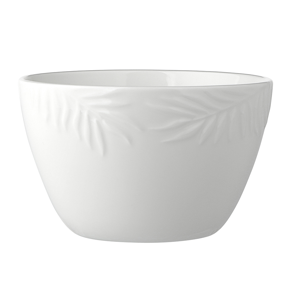 Tropical white 14cm 600 ml bowl NBC
