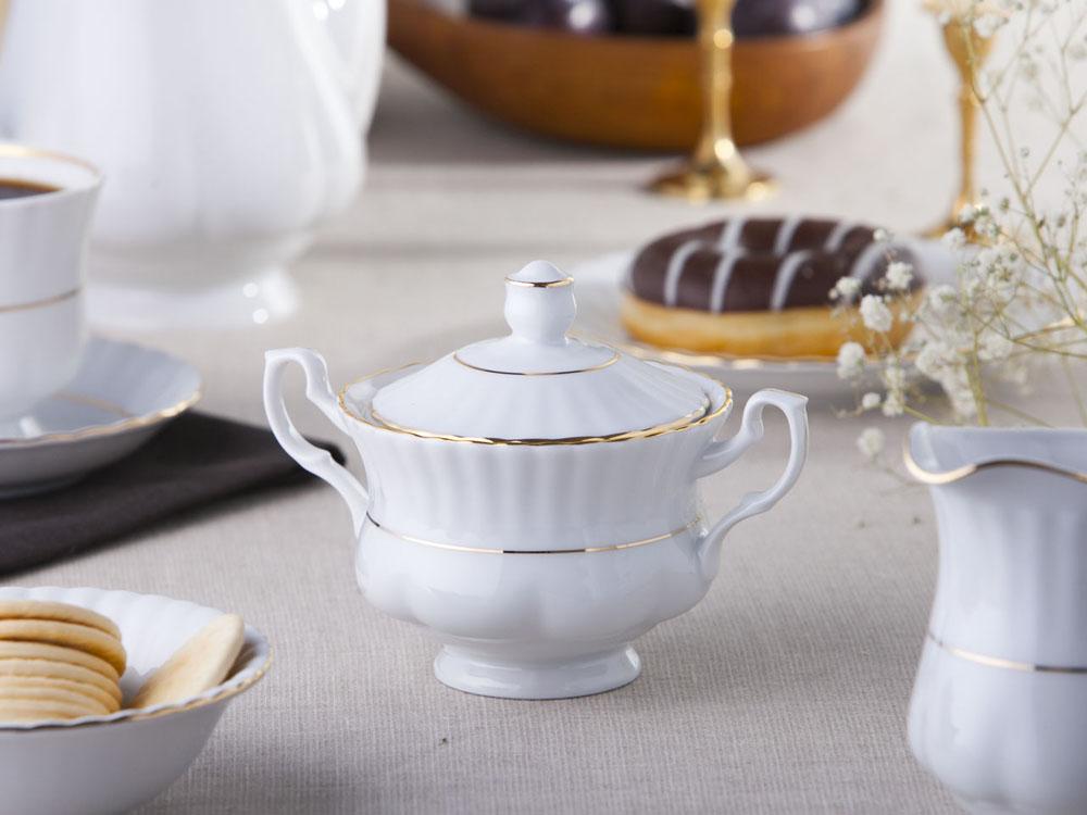 Cukiernica porcelana Chodzież Iwona Złoty Pasek 300 ml