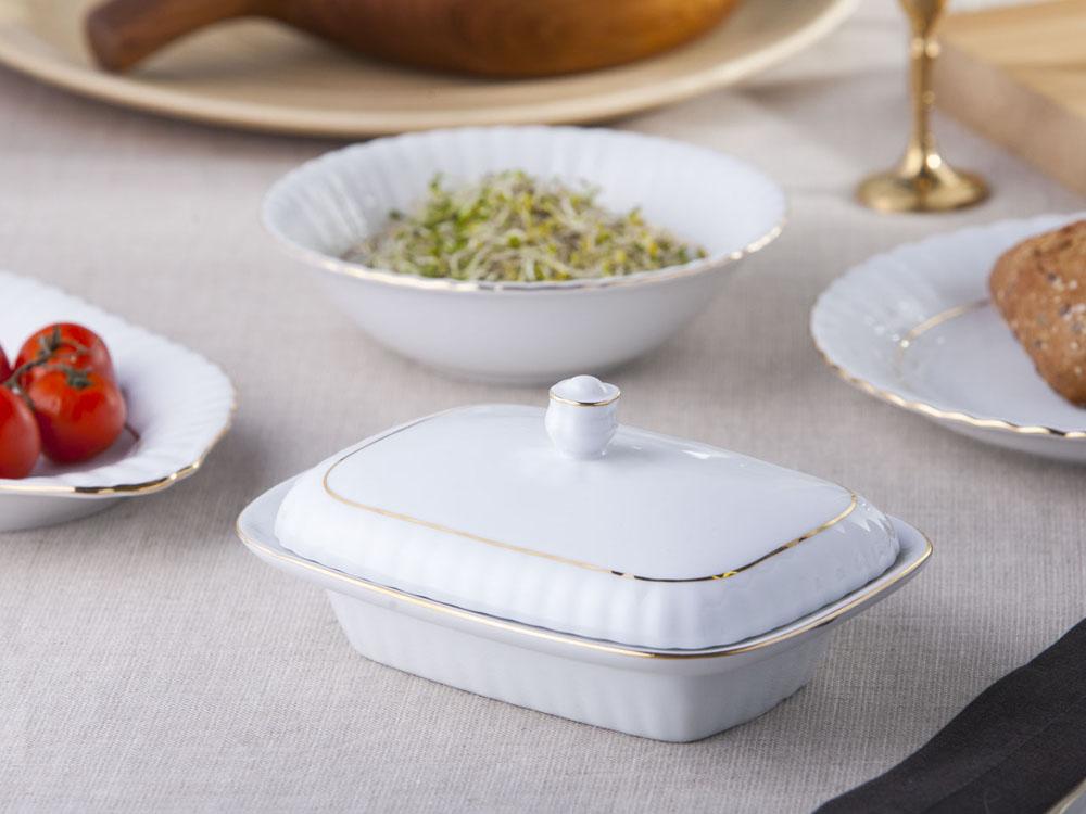 Maselniczka porcelana Chodzież Iwona Złoty Pasek