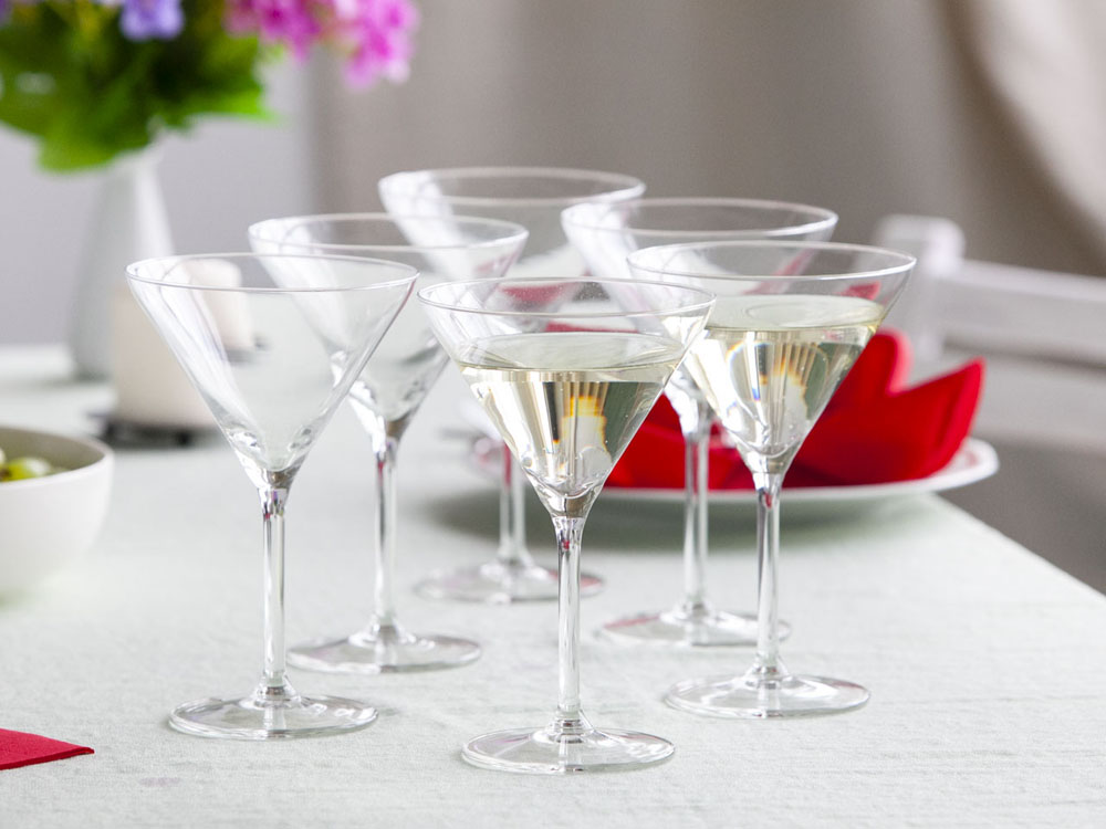 Diamond set of 6 martini glasses 260ml