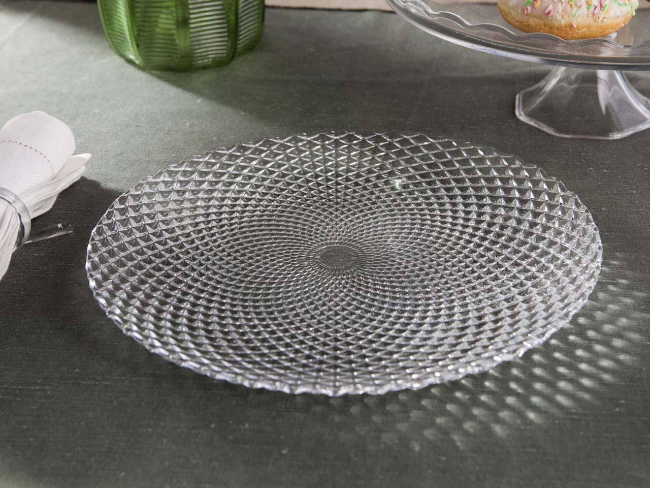 Patera / Talerz do ciasta szklany Altom Design Polaris 30,5 cm