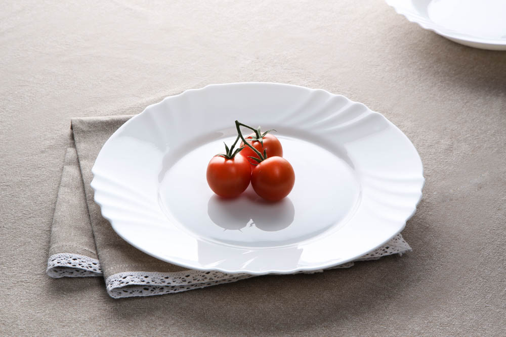 Talerz obiadowy ze szkła hartowanego Nilo 25 cm
