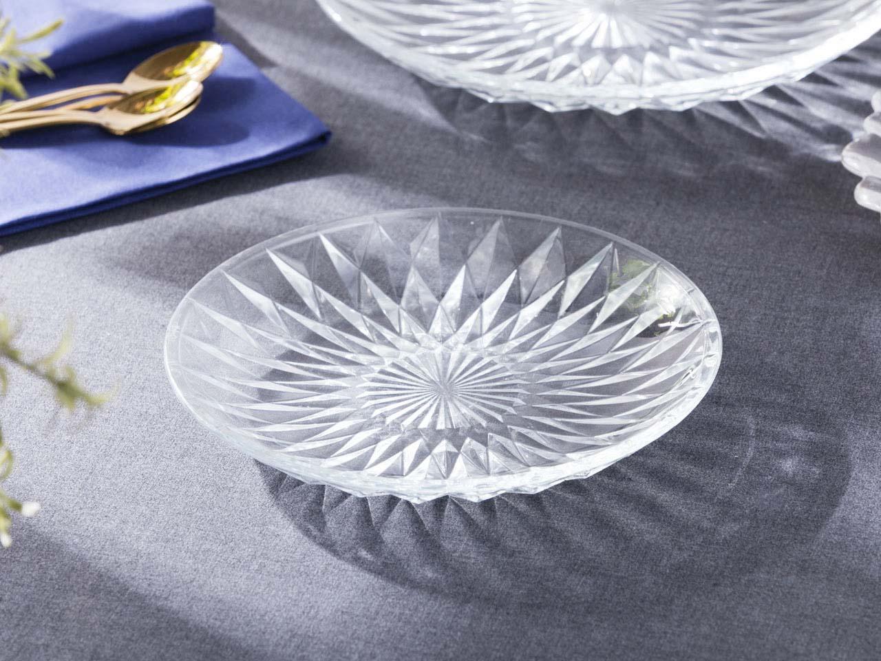 Talerz deserowy szklany Altom Design Stella 20 cm