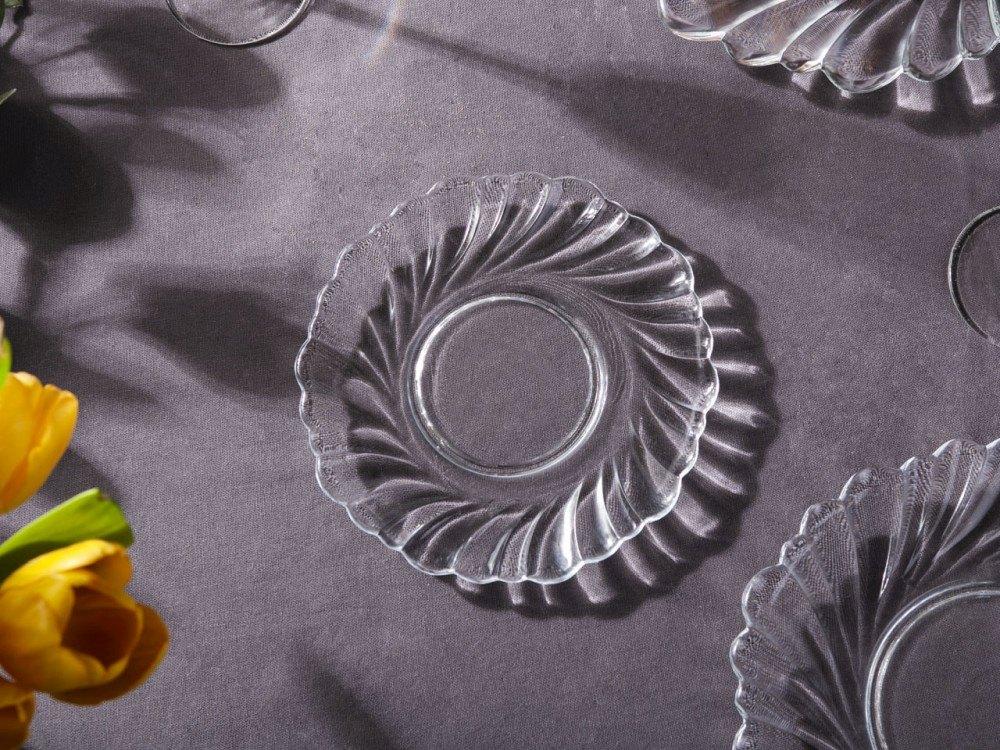 Talerz szklany Helena deserowy Edwanex 18,5 cm