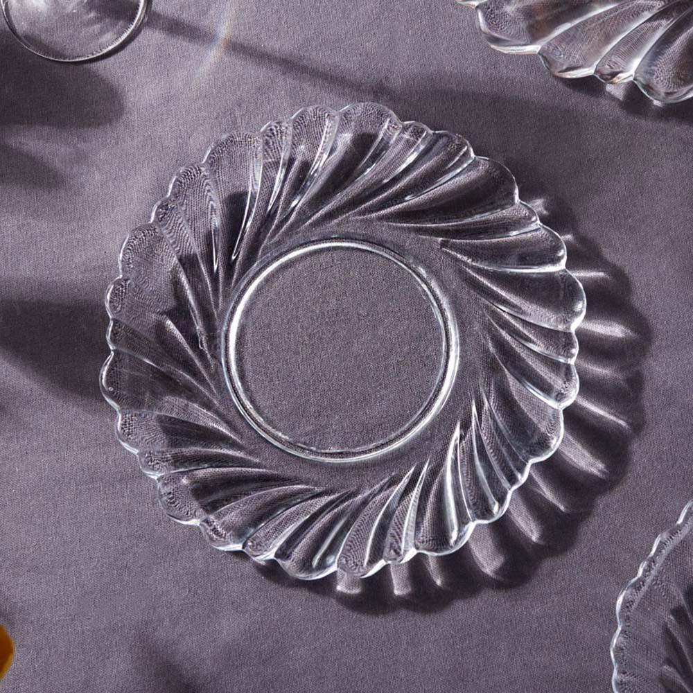 Talerz szklany Helena deserowy Edwanex 22 cm