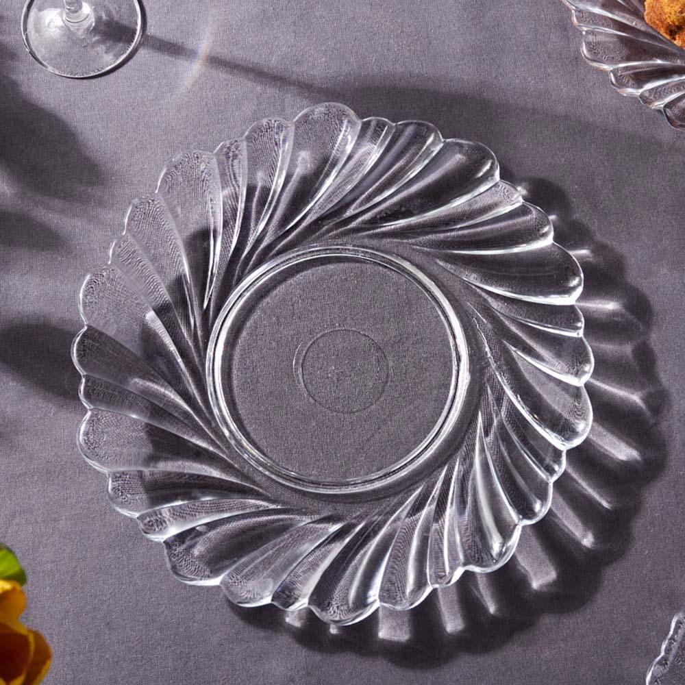 Talerz szklany / Patera na ciasto i tort Edwanex 27,5 cm