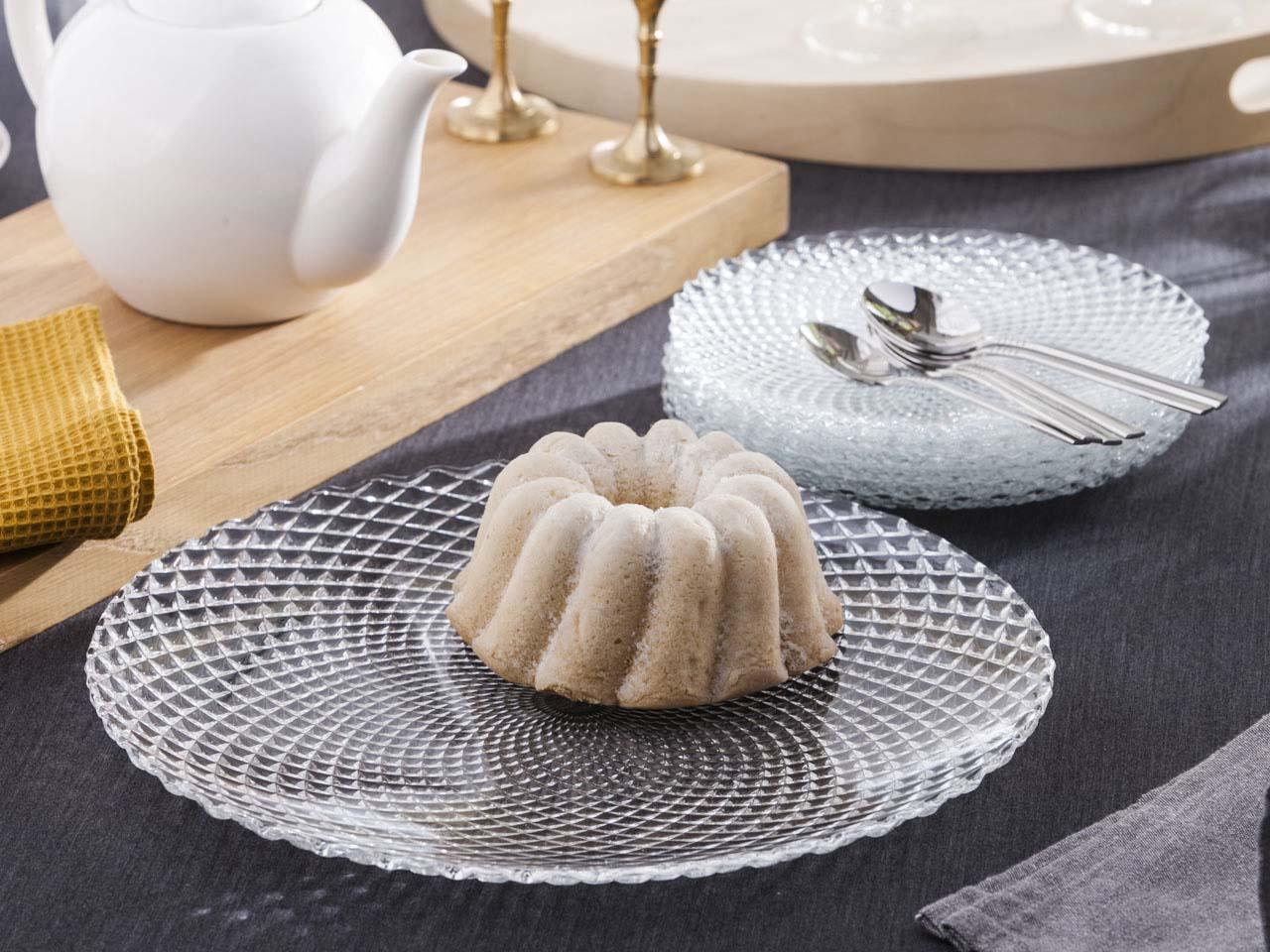 Zestaw do ciasta: talerz deserowy / patera szklana Altom Design (7 elementów)