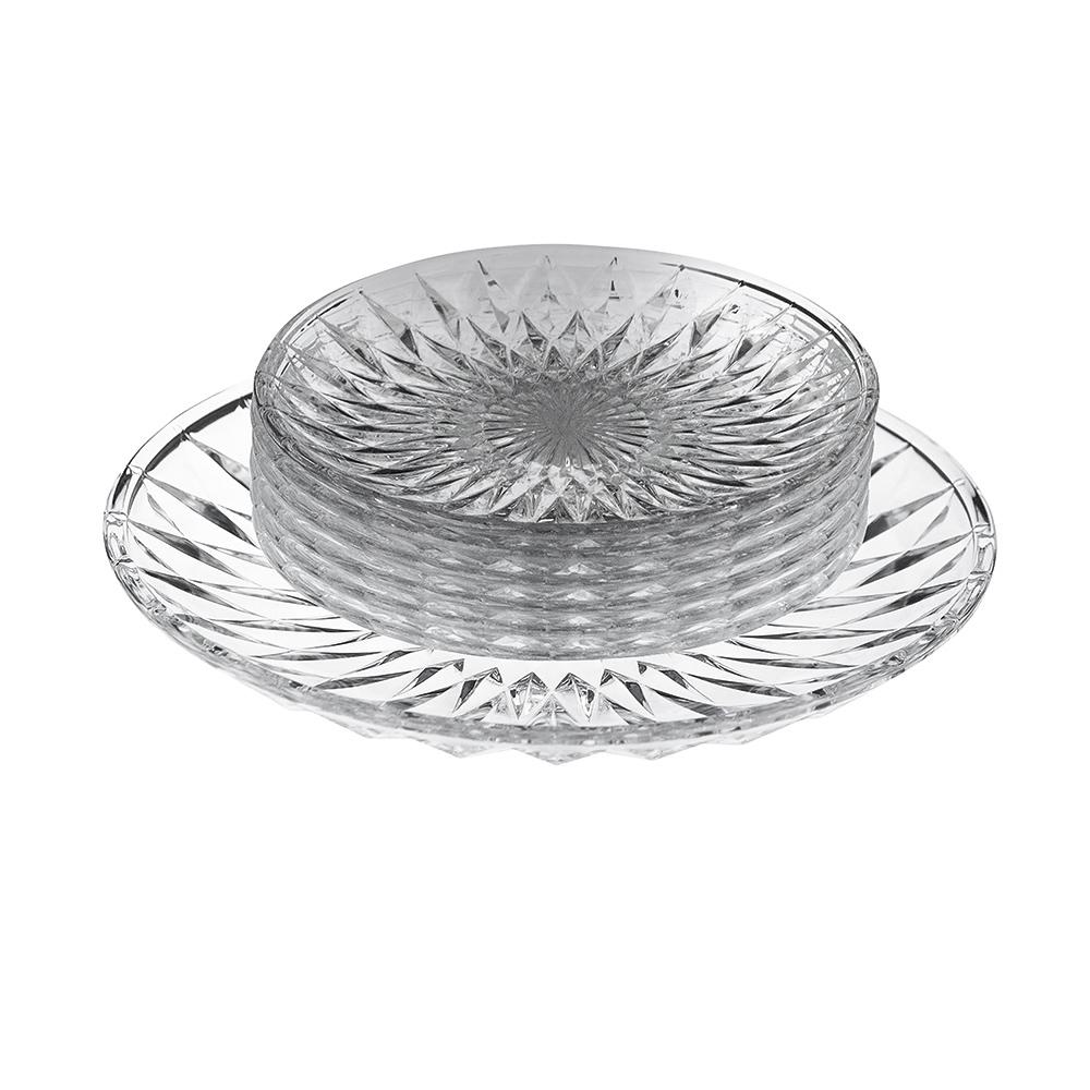 Zestaw deserowy sdo ciasta zklany Altom Design Stella (7 elementów)
