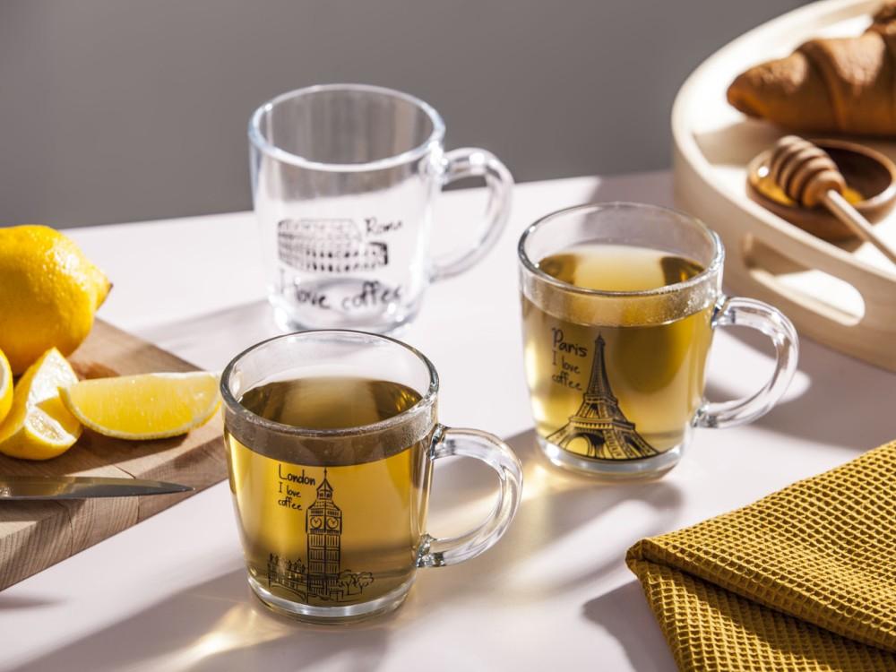 Szklanka / Kubek szklany Altom Design dek. Stolice 350 ml (3 wzory)