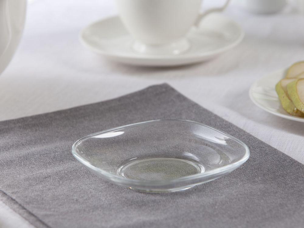 Spodek szklany kwadratowy 12,5 cm